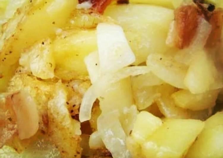 туда картошка жареная на сале рецепт с фото самое