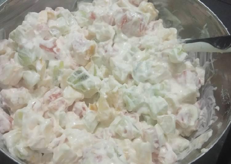 Salad buah sehat/tanpa SKM n mayonaise - cookandrecipe.com