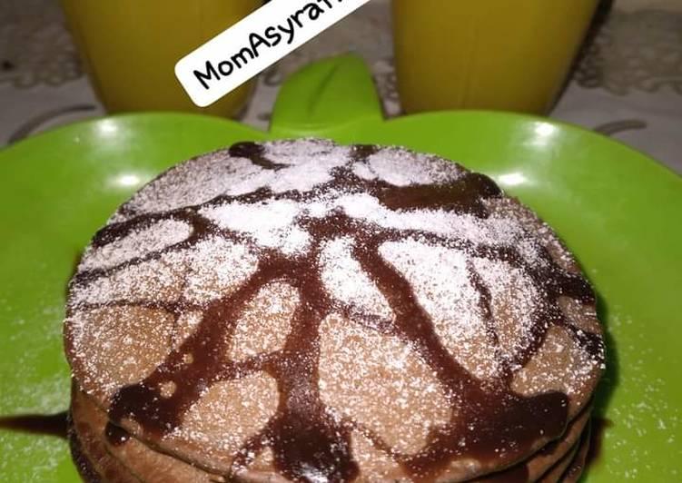 Cara Gampang Membuat Pancake choccolattos yang Lezat Sekali