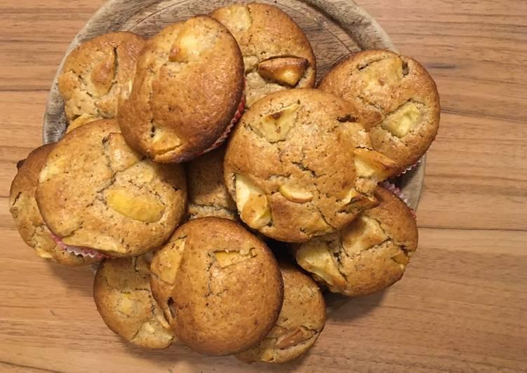 Einfachster Weg zu bereiten Perfekt Apfel-Bananen-Muffins
