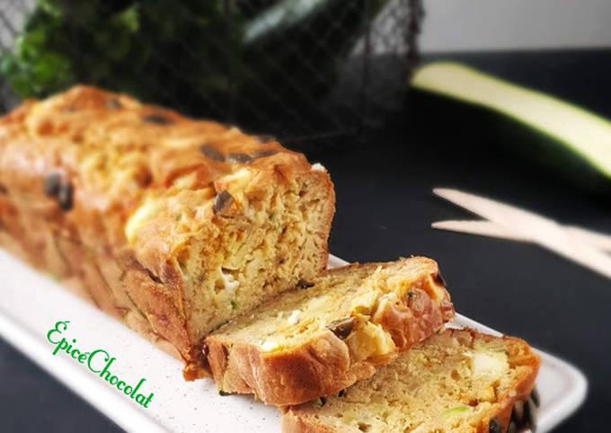 Cake courgettes brebis