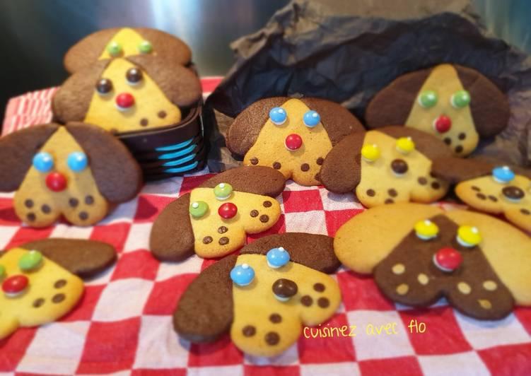 Recettes Biscuits sablés tête de chien trop choux