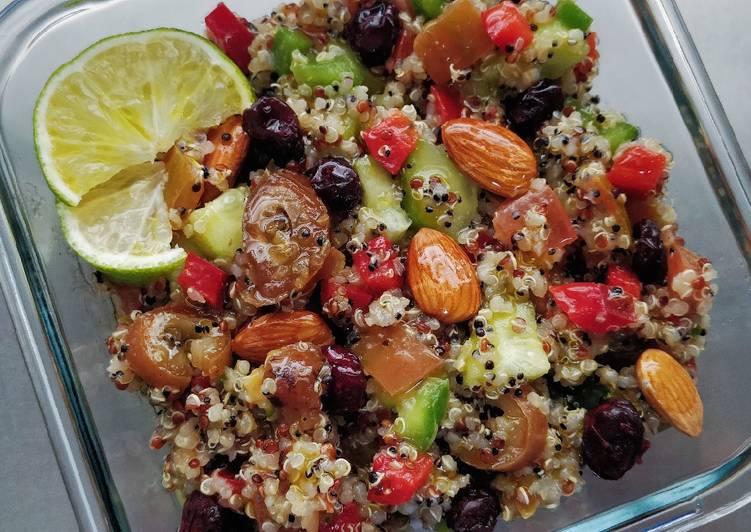 Tabulé de quinoa con dátiles