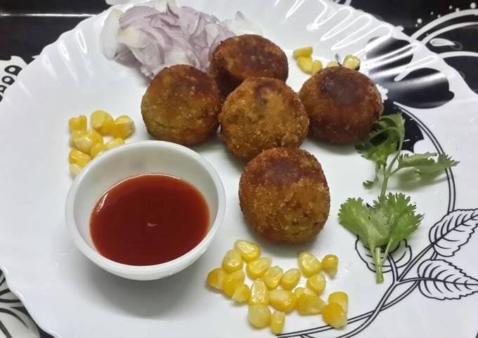 Potato Corn Cheese Balls