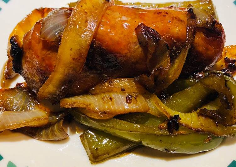 Caramelized Onions 🧅 and Green Pepper