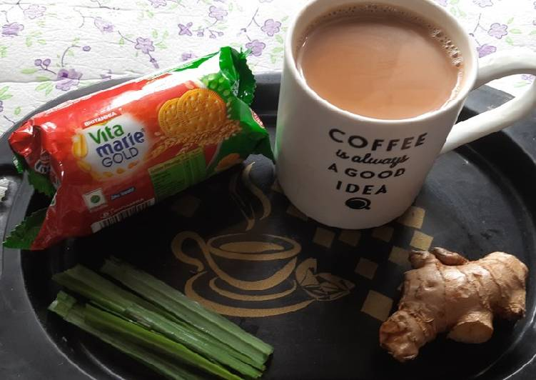 15 Minute Recipe of Love Brown sugar lemon grass ginger masala chai(Tea)