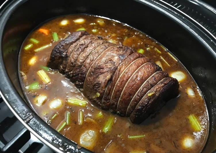Pot roast beef brisket