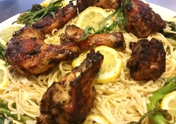 BIANCO MEATS- Tuscan Roasted Chicken over Cacio Pepe Linguine,,