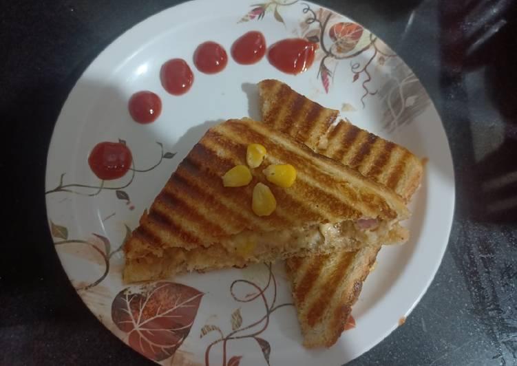 Easiest Way to Make Ultimate PANEER CORN Grill Sandwich
