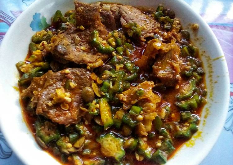 Recipe of Super Quick Homemade Simple Okro Soup