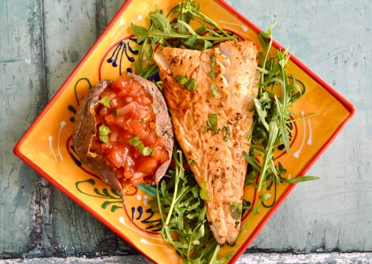 Easiest Way to Make Perfect Spanish Marinaded Cod with Salsa Sweet Potatoes