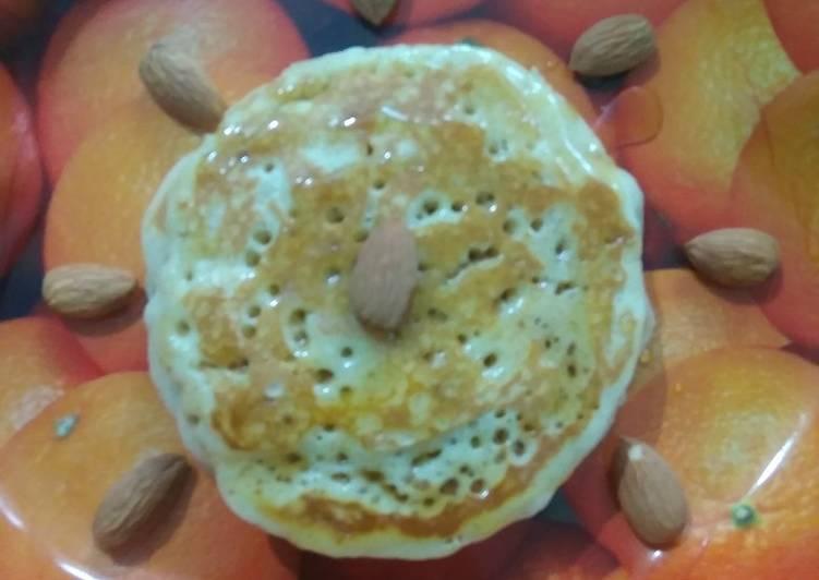 How to Prepare Speedy Eggless Almond Pancake