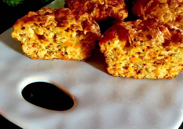 Recipe of Favorite Oil-Free/Fat-Free Savory Zucchini Cheese Muffins