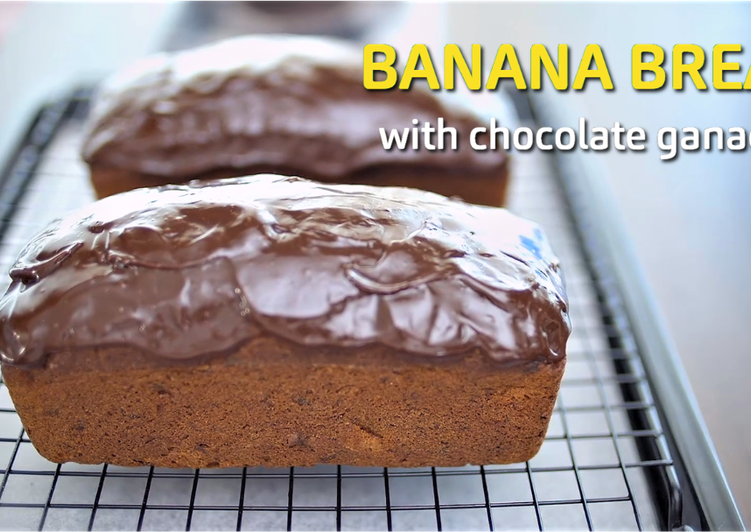 Banana Bread with Chocolate Ganache ★Recipe Video