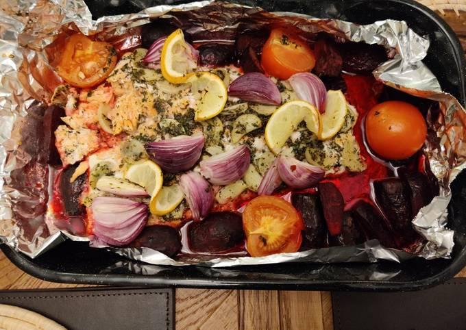 Mum's oven baked Salmon