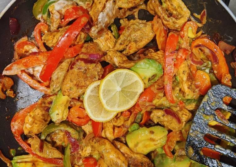 Recipe of Award-winning Quick BBQ chicken Fajitas