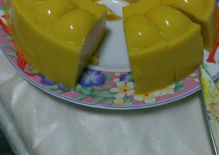 Puding susu labu kuning