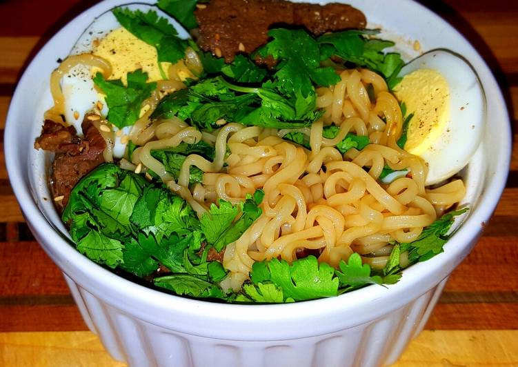 Mike's 3 Minute Dashi Beef Ramen Noodle Soup