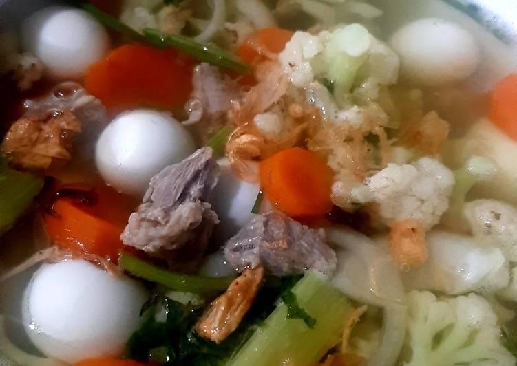 Resep Sop Daging Telur Puyuh Yang Simple Endes