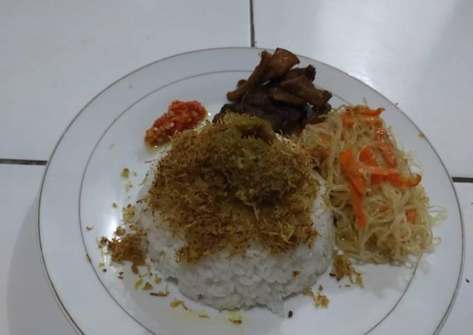 Nasi Babat Madura + Bihun Goreng dan Sambel Korek