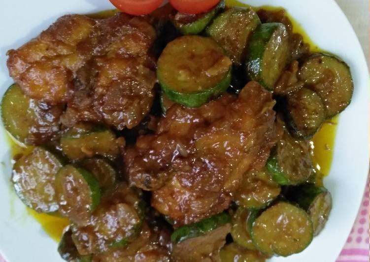 Tumis Zucchini Ayam