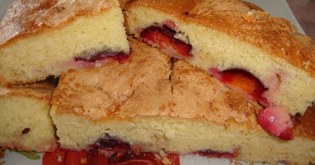 снимок бисквит со сливой рецепт с фото жители согласно традиции