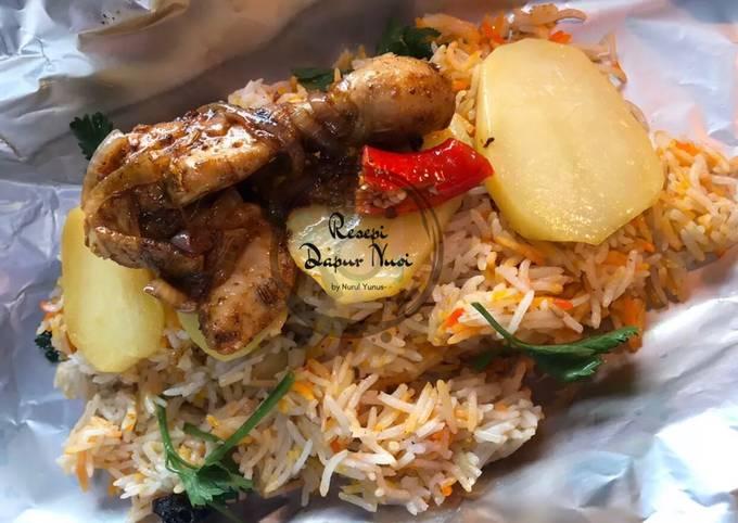 Resepi Nasi Arab Ala2 Mandy Ayam Bawang 🤤