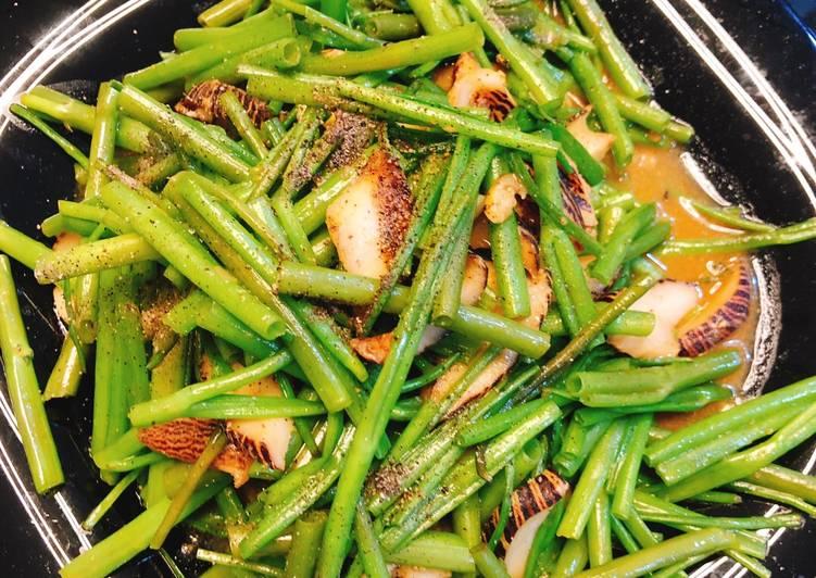 Cách Làm Món Ốc giác xào rau muống của Bùi Thị Diệu Trang - Cookpad