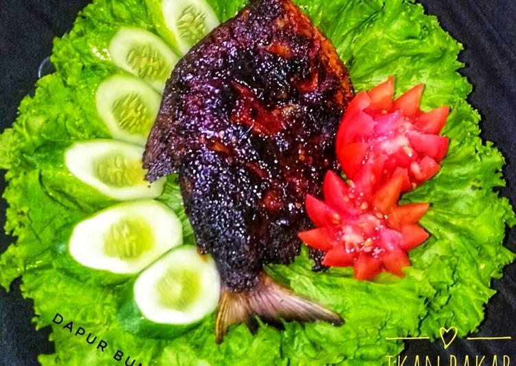 Ikan bakar pedas manis (teflon)