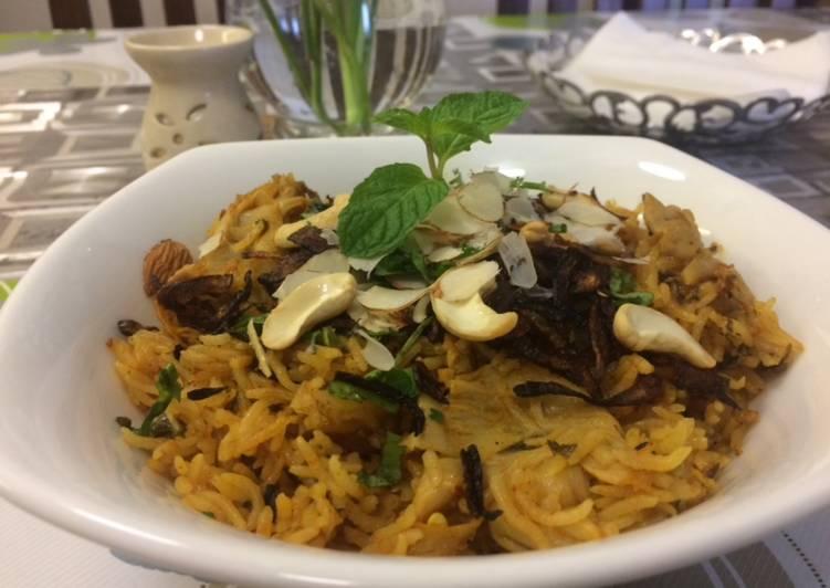 Oyster Mushroom Biriyani