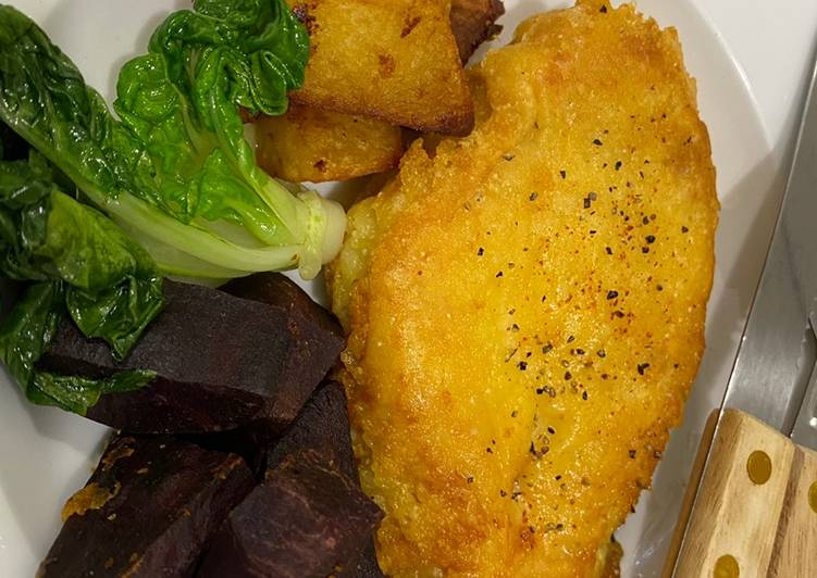 Fried Parmesan cheese chicken