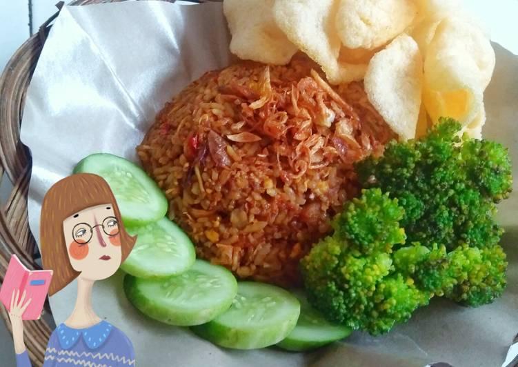 """Nasi goreng abang"""" ala rumahan😍"""