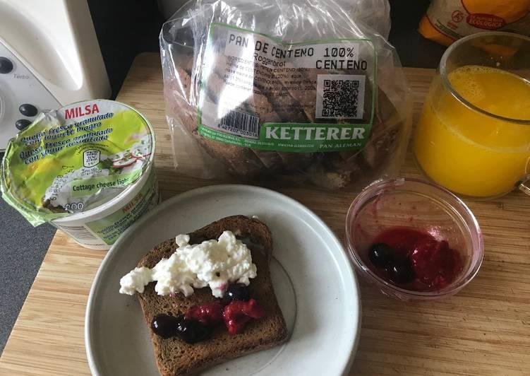 Desayuno sencillo, saludable