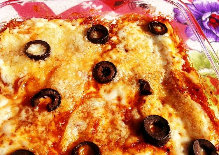 Flattened rice creamy pizza - Laurie G Edwards