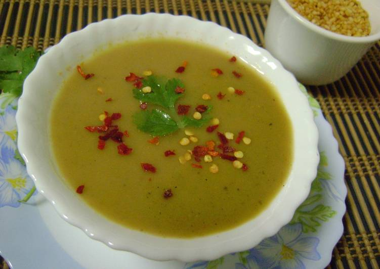 Roasted Moong Dal Soup