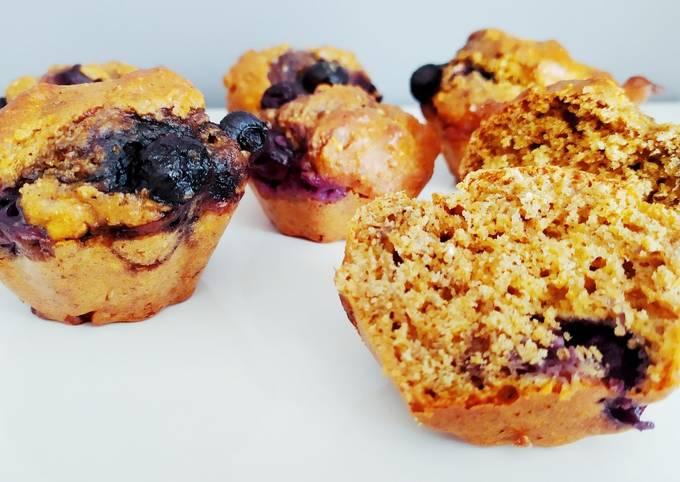 Muffins au son d'avoine et myrtilles - ig bas