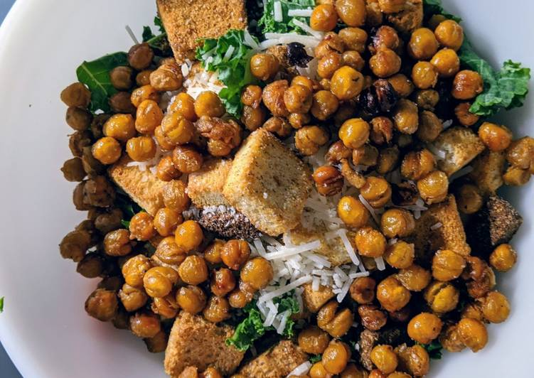 Recipe of Award-winning Chickpea Kale Ceasar Salad