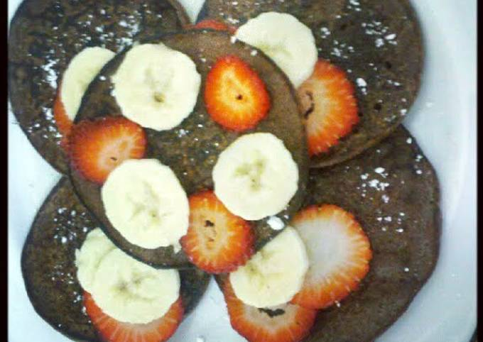 Low calorie chocolate chip pancakes