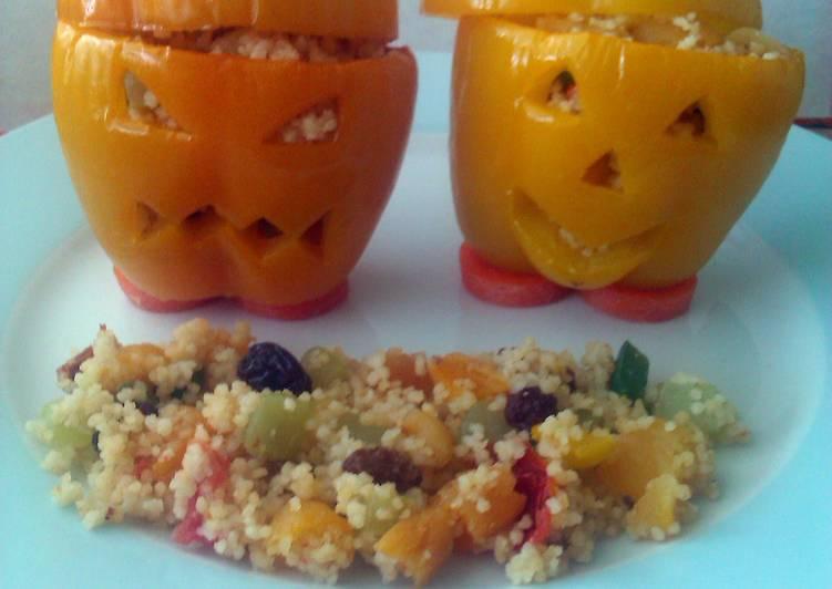 Easiest Way to Prepare Perfect Vickys Spooky Stuffed Halloween Peppers, GF DF EF SF NF