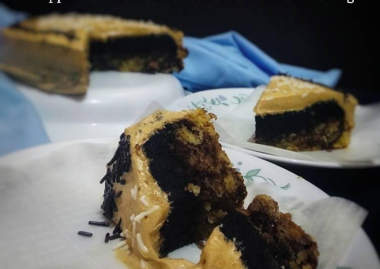 Peanut Butter Buttercream Marble Cake
