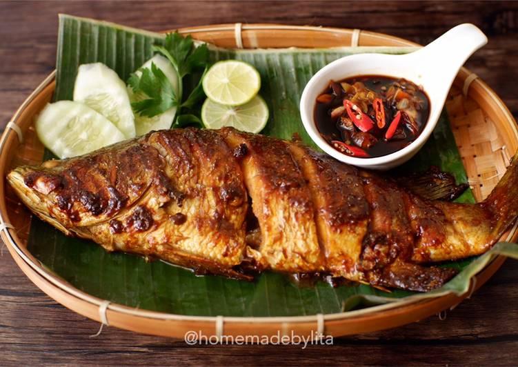 Ikan kakap putih bakar saus kecap #homemadebylita