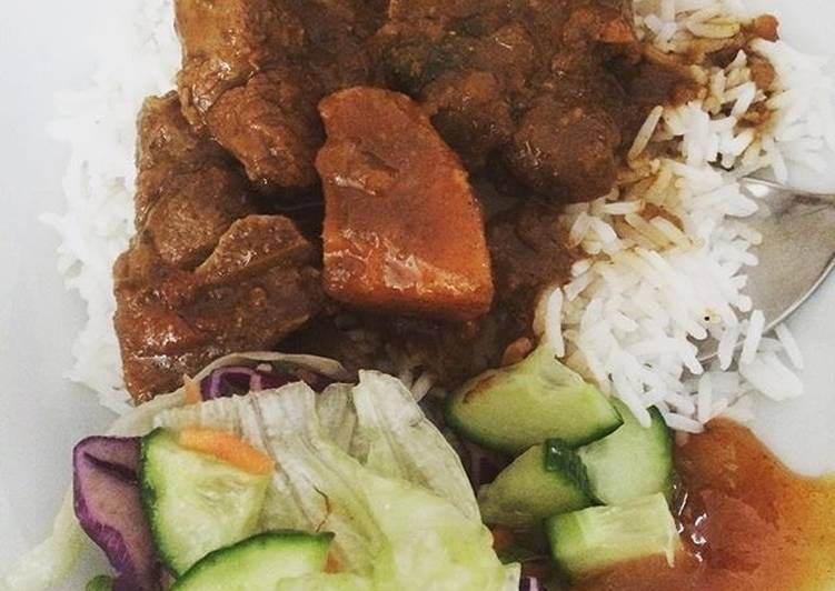 Sweet potato lamb curry