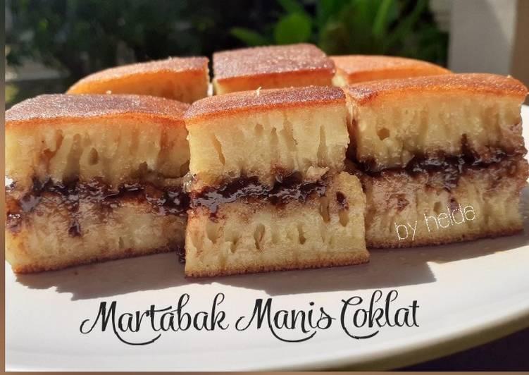 Martabak Manis Coklat Teflon Bersarang & Empuk
