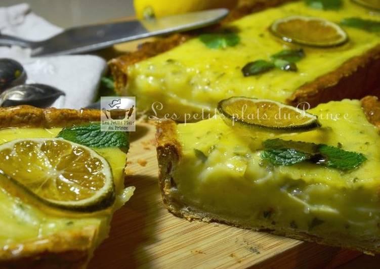 Tarte citron et menthe mojito