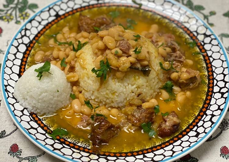 Beans and Rice w/ Smoked Turkey Wings - Laurie G Edwards