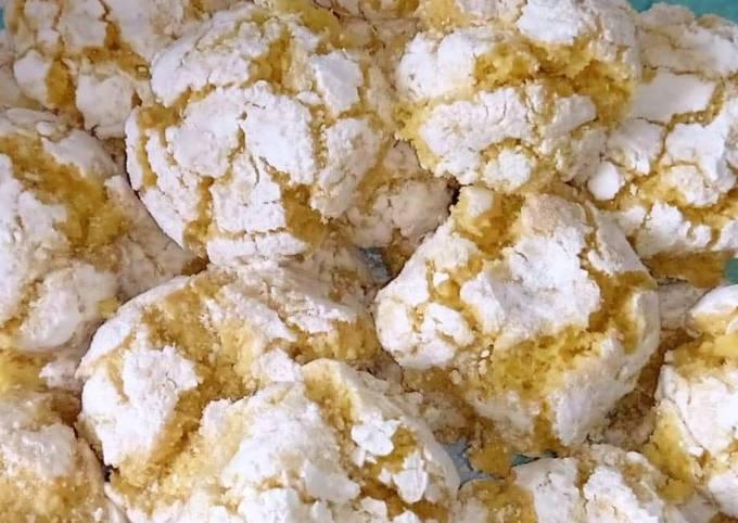 Biscuits craquelés à la noix de coco