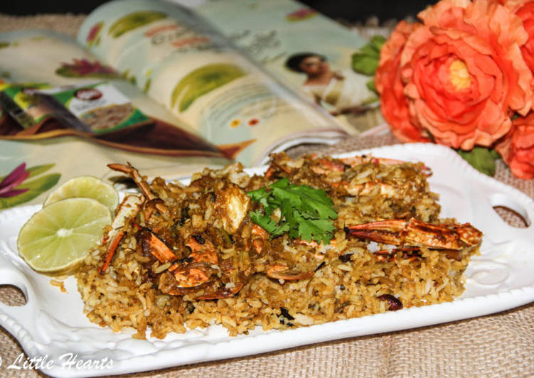 Nadan Njandu Biryani / Kerala Style Crab Dum Biryani