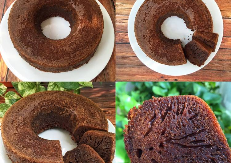 resep menyajikan Karamel cake aka bolu sarang semut - Sajian Dapur Bunda