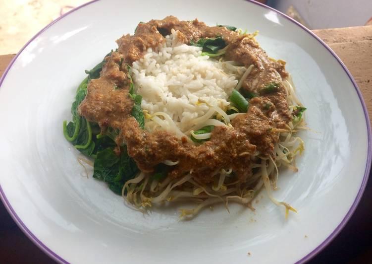 Nasi pecel sederhana