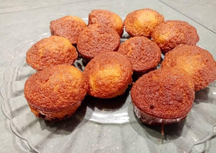 Cupcakes vanille et pépites de chocolat
